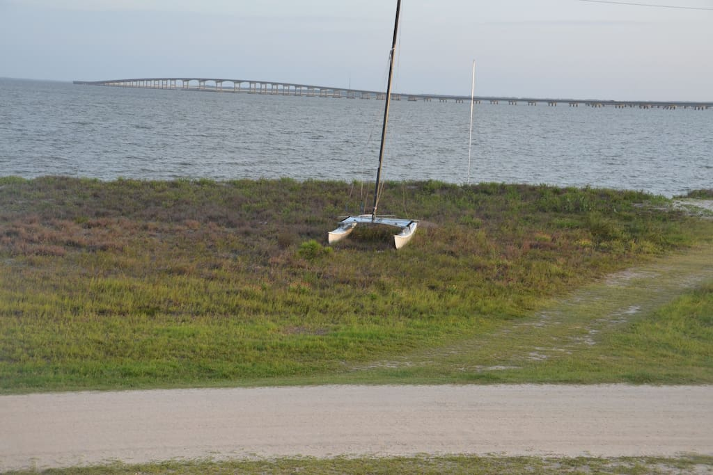 bay beach directly across from the house