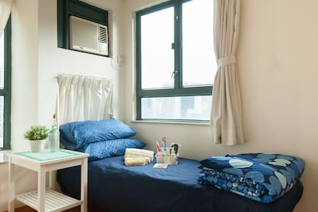 Comfortable Wan Chai room ideal for solo travelers - Hong Kong - Appartement en résidence