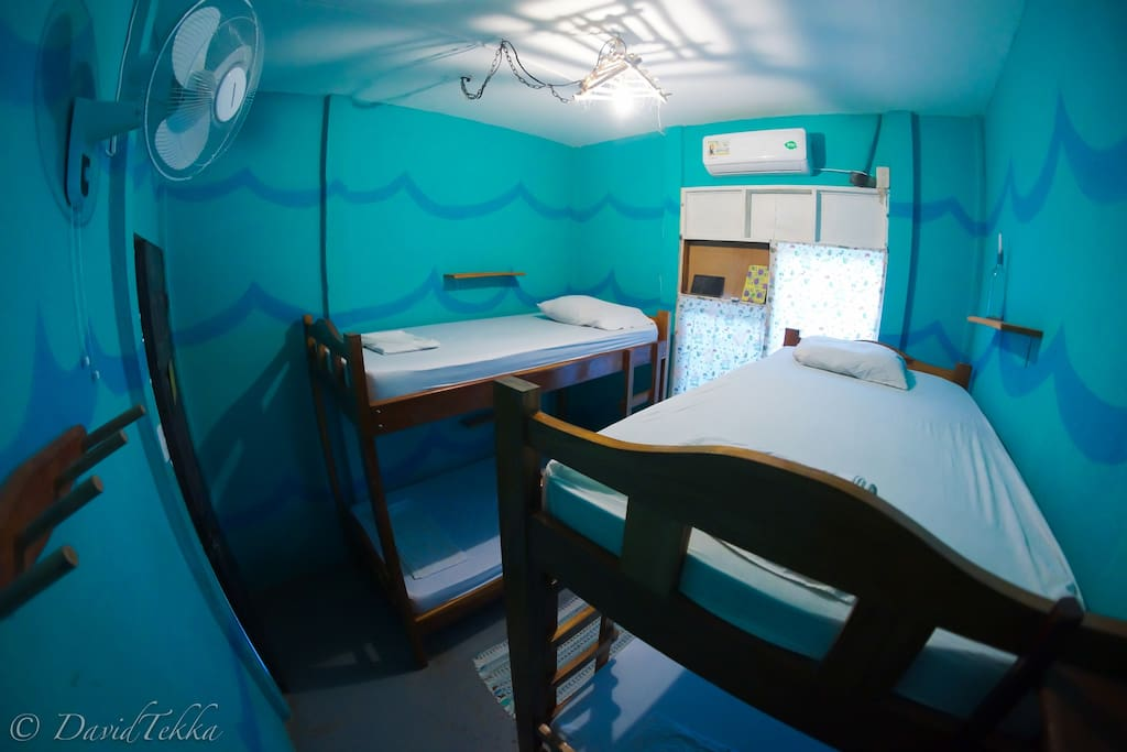 2 Bunk Bed Dorm with AC