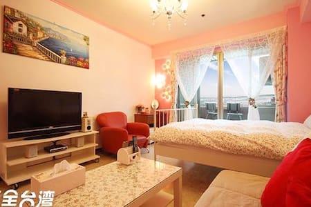 【玫瑰花園】 高樓層景觀套房/私人陽台 - Qianzhen District - 레지던스
