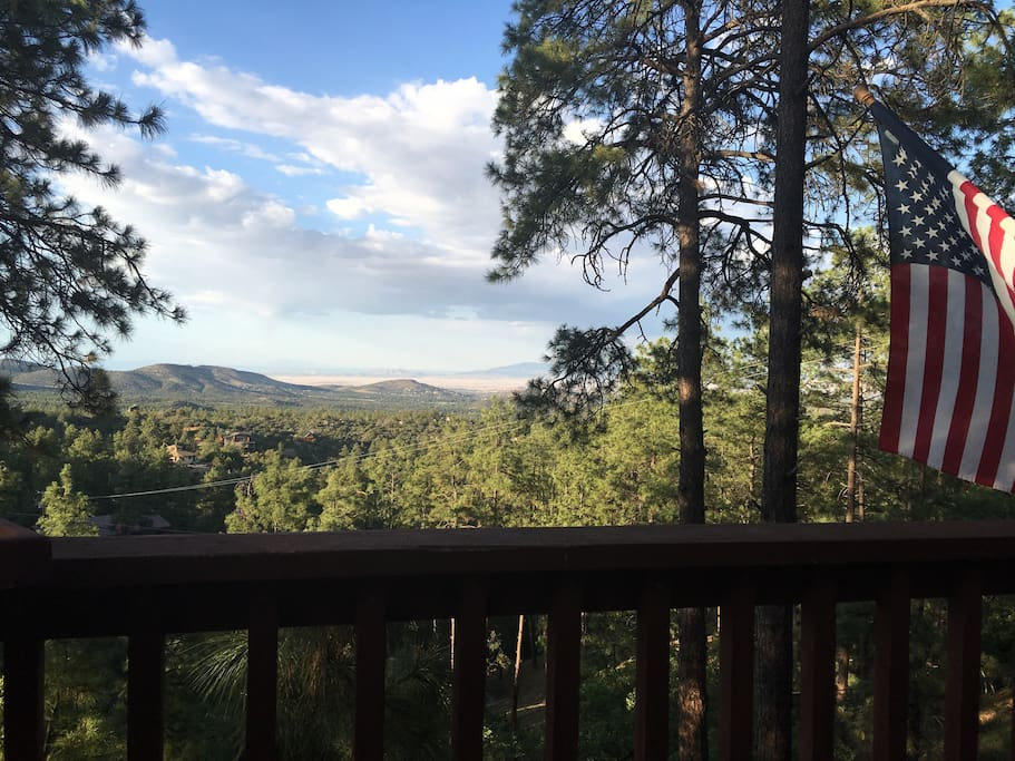 Balcony deck view