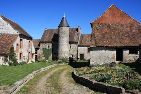 Family Room in a Medieval Chateau - Brigueil-le-Chantre - Slott