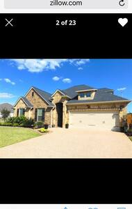 King bed, private bath& tv room - College Station - House
