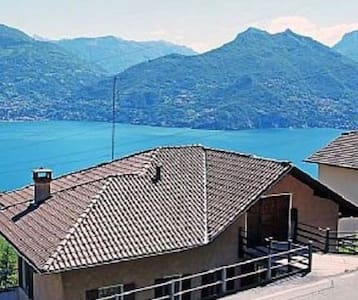 Apartment with view of Lago di Como - Plesio