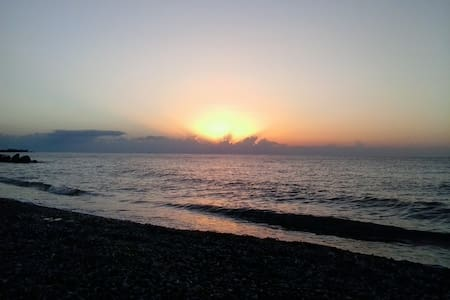 MAGICAL SUNSET HOUSE  BEACH  FRONT - Rodos - House
