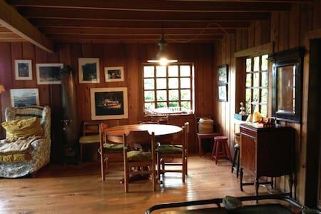 Casa de tejas de madera de Alerce. - Casa