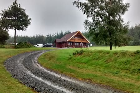 Stunning Log Cabin with fabulous views - Ballinaclash