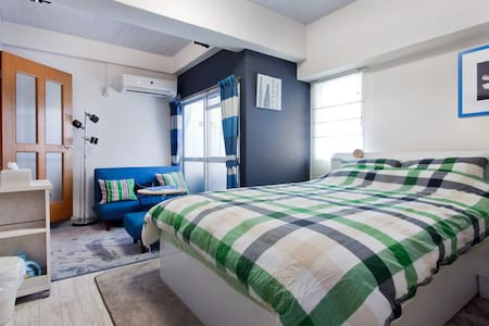 #21★Direct to airport|Namba stn|Minami|Wi-Fi|Clean - Appartement