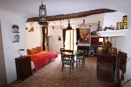 quiet room in medieval village - House