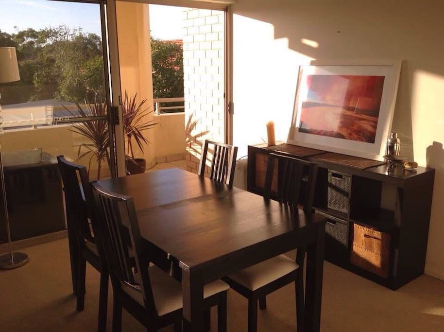 Separate dining area space