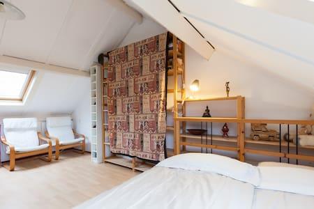 Ruime zolderkamer in rustige wijk - Ház