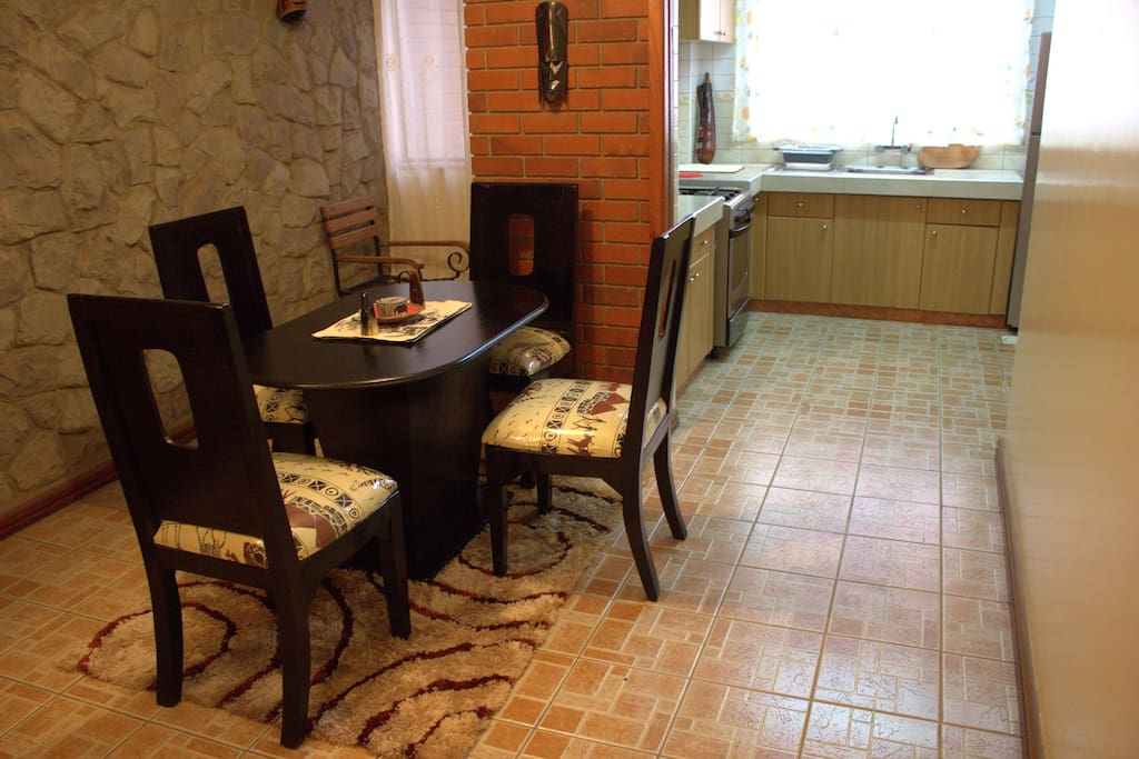 Spacious dining room with access to the kitchen Nairobi vacation rentals