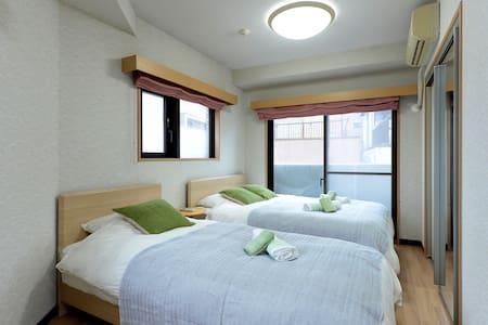2BR big flat 60sqm/up to 9persons JR Ikebukuro sta - Toshima-ku - Apartemen