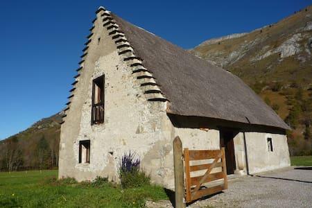 Authentique grange pierre et chaume restaurée - Campan