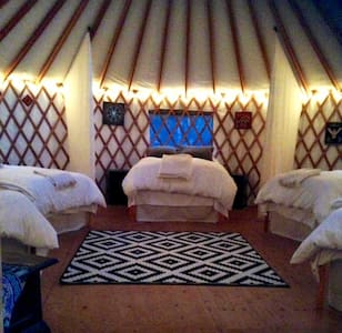 Amazing Yurt for 6 in a Redwood Forest Eco-Retreat - Yurta