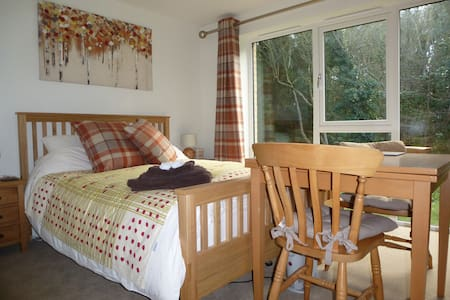 Woodland Room Treetops, Duporth Private Beach - Bed & Breakfast