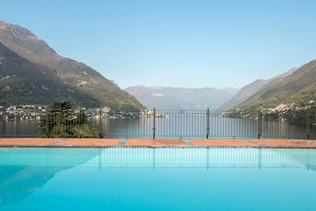 Stunning views and swimming pool - Faggeto Lario  - Apartment
