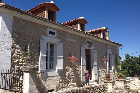 Lovely stone cottage in hamlet - Haus