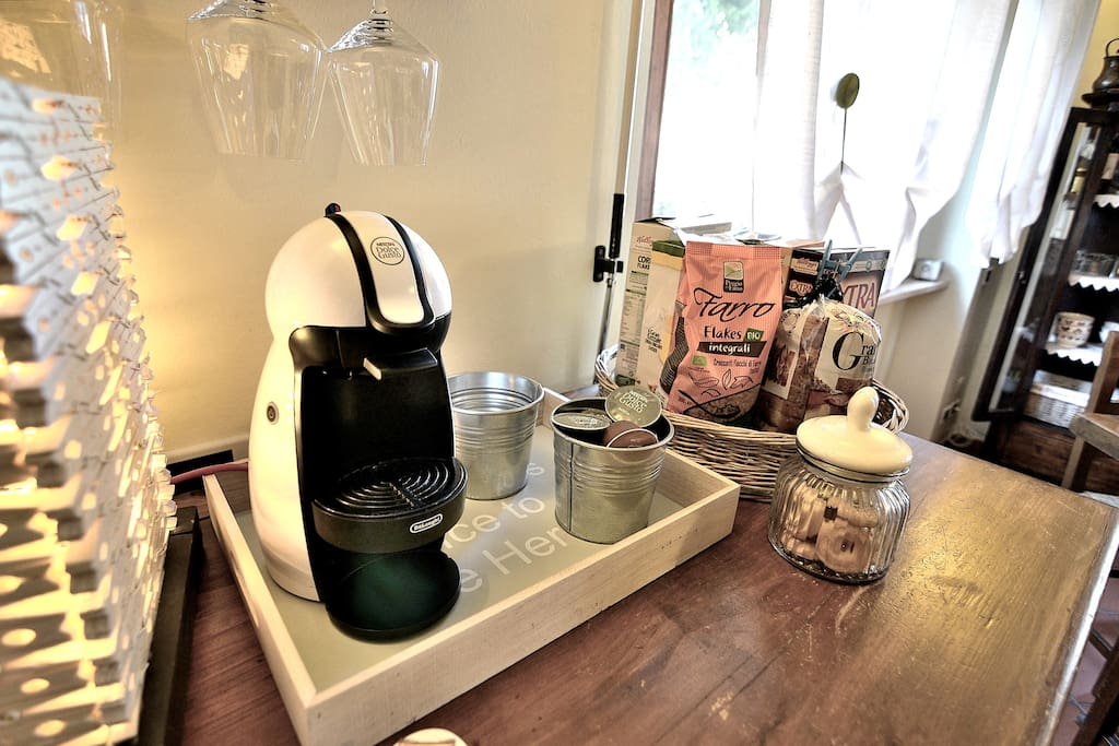 Italian Expresso Coffee Maker at your disposal.