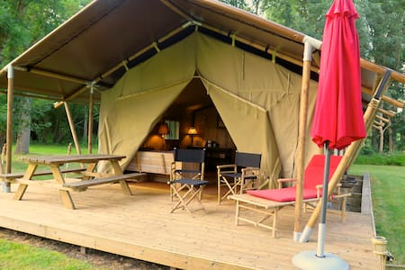 Safaritenten aux Gîtes de Cormenin - Saint-Hilaire-sur-Puiseaux