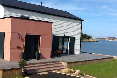 maison vue mer accès direct plage - Plougasnou
