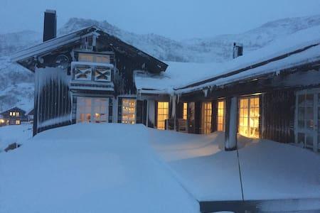 Stor moderne hytte på fjellet med flott utsikt - Blockhütte