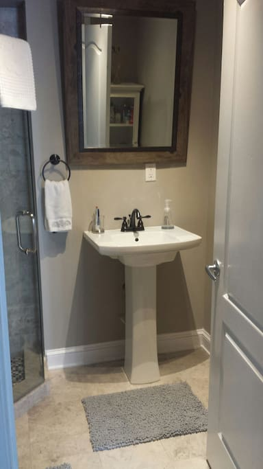 Brand New bathroom with natural stone