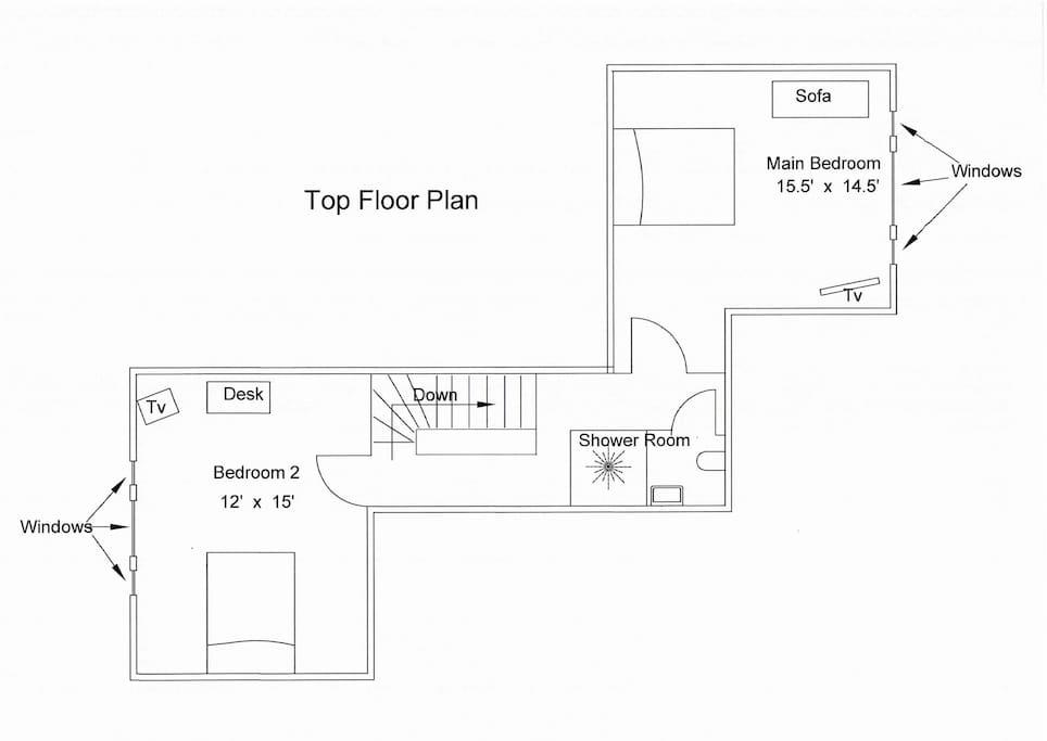 Floor Plan of Top Floor