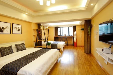 新天地优选精品双床一室公寓近钟鼓楼回民街火车站机场大巴停靠点 - Xi'an - Flat