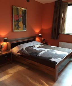 Nice room 15 min to city center. Free parking - House