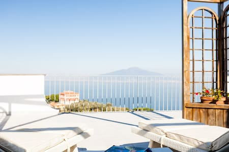 Villa Abate with sea view and pool - Priora