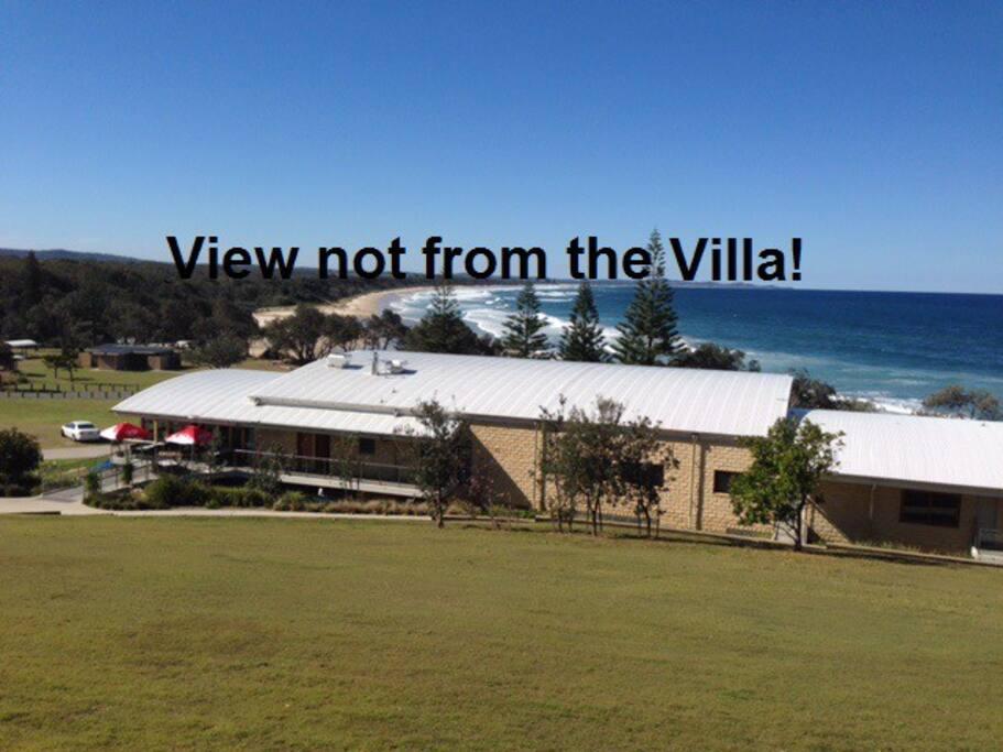 Rainbow Beach & Surf Club, Bonny Hills, view from Ocean Drive,