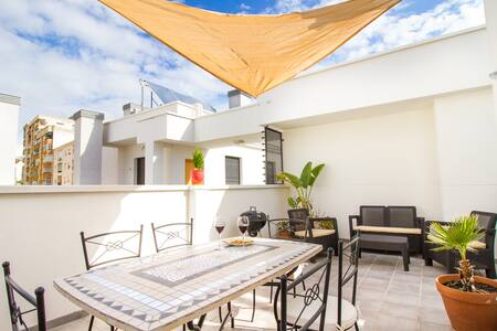 Grand Apartment with Terrace and Parking in Centre - Malaga - Appartement