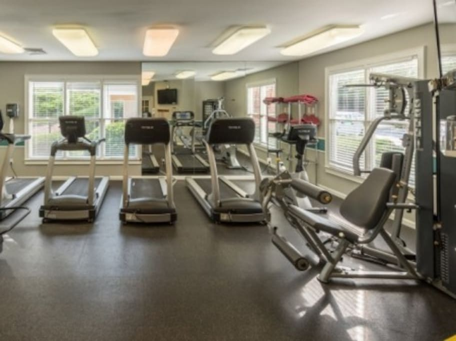 Spacious gym included in your stay!