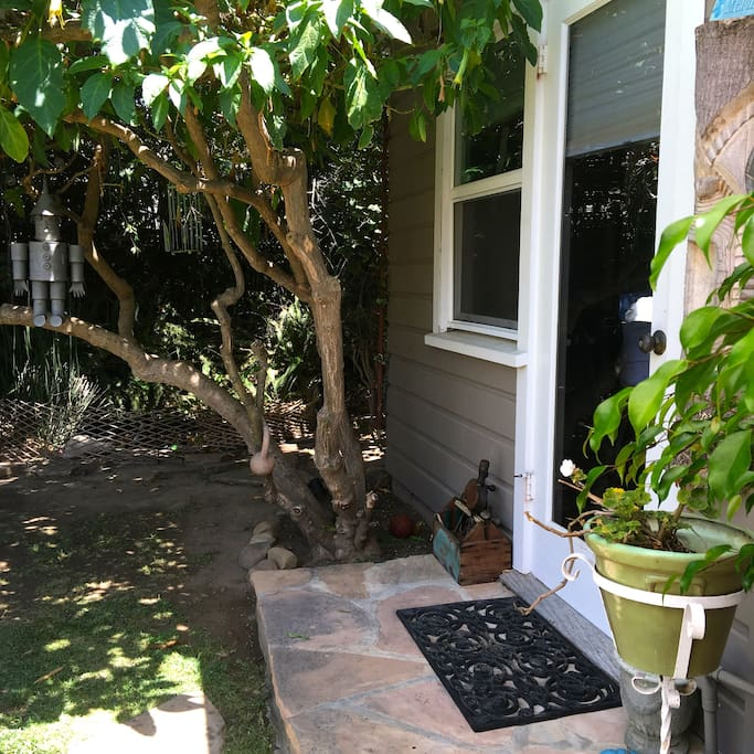 Private detached garden cottage with private patio and entry