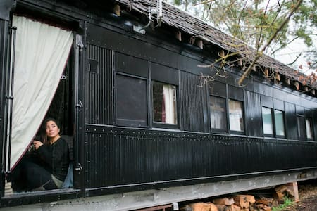 Steam: Train Carriage in the Otways - Forrest - Kereta api