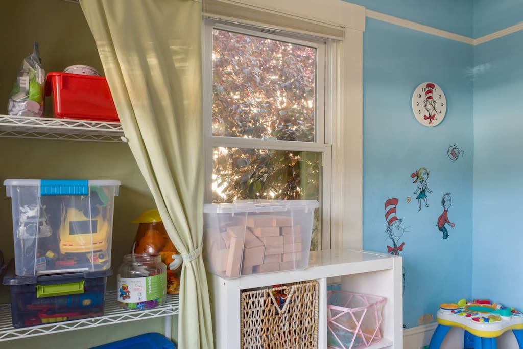Playroom with toys for ages 1-6