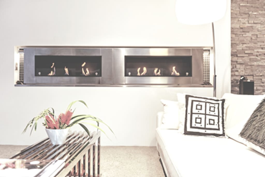 On cold nights a warm ethanol fire is just the thing!