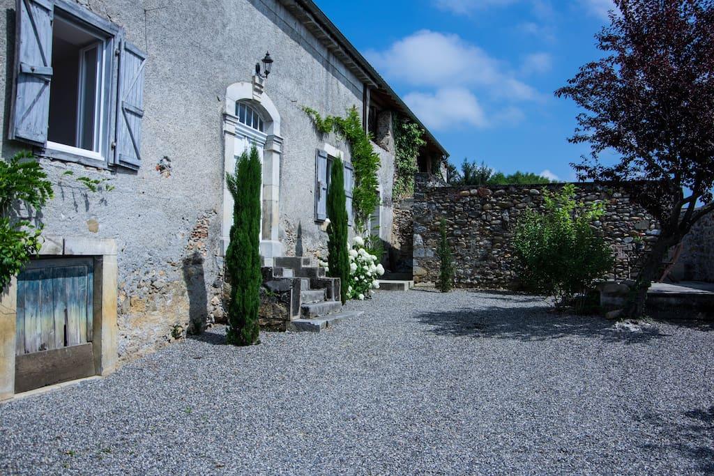 Main entrance and private garden