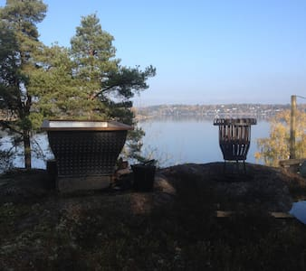 Unik stuga vid sjön Drevviken på Höjden! - Vendelsö - Cabin