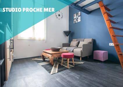 Studio avec mezzanine proche mer et Monaco - Appartement