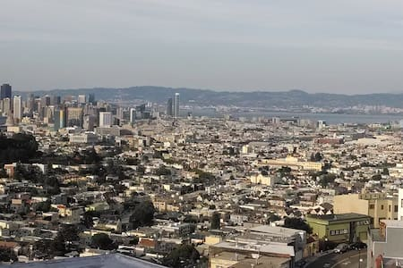 Twin Peaks View of the Entire City with Deck - San Francisco - Apartment