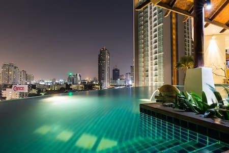 Skybar+ArtDistrict+FoodHub+BTS-2MIN - bangkok - Wohnung