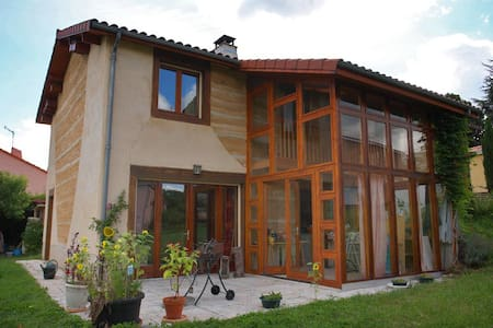 Chambre verte proche de Clermont-Ferrand - Romagnat - Dom