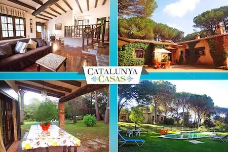 Charming and private five-bedroom villa in Santa Cristina d'Aro, just 5 min to the beach - Costa Brava - Huvila