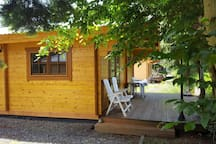 Comfortable and cheap chalets on campingplace