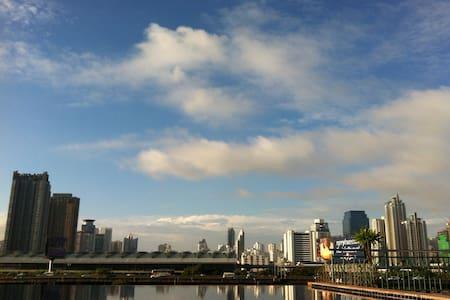 City view pool/Gym/New CBD/MRT/WiFi - Bangkok