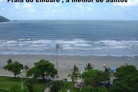 Apto de frente a praia em Santos