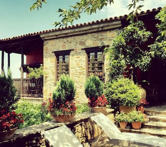 Traditional stone house - amazing garden - Parthenonas