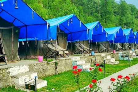Cosy Swiss Tents Next to River Side - Manali - Bed & Breakfast